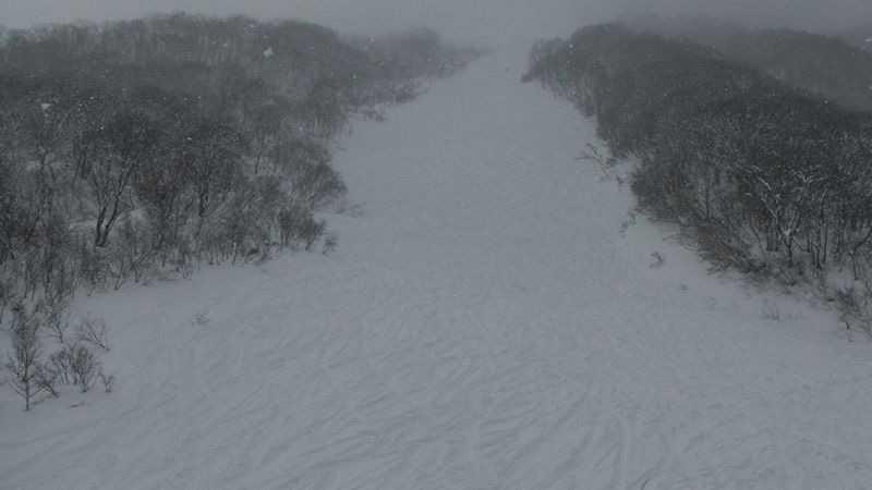 やっぱりぱふぱふパウダー!圧雪していないコースがあるスキー場