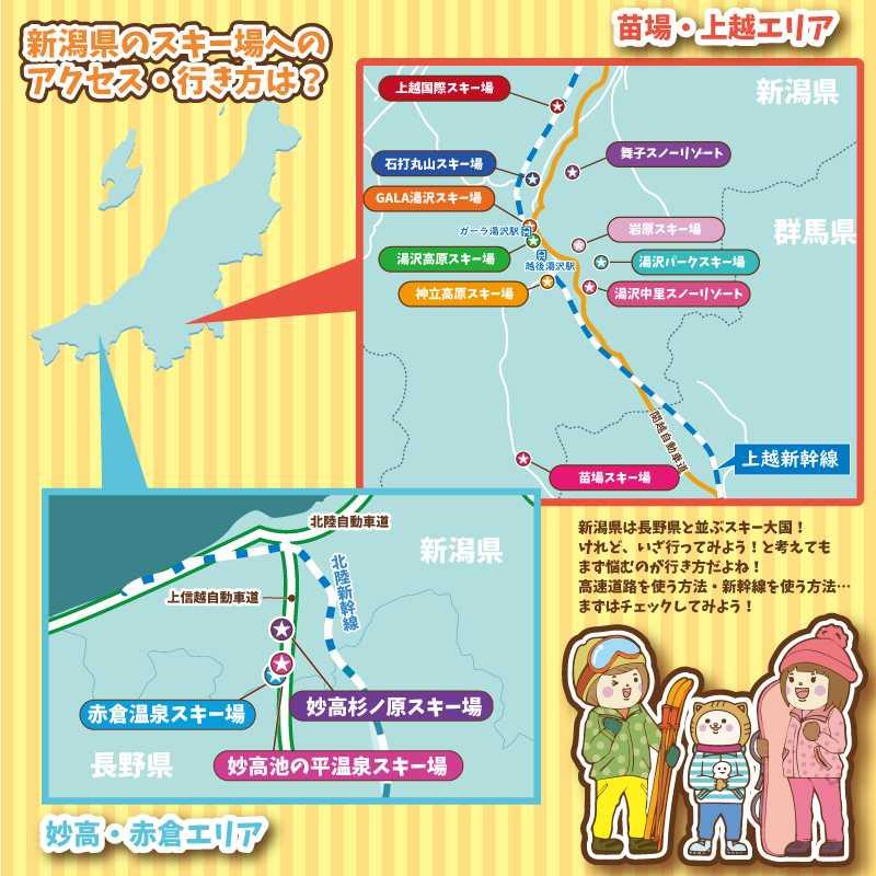 新潟県のスキー場アクセス・行き方