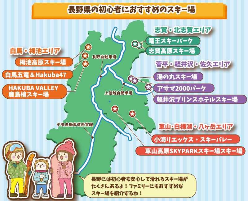 長野県内の初心者におすすめスキー場