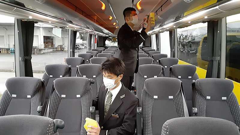 オリオンバス 車内